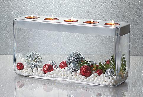 Centro de mesa vers til base de vidrio soplado con - Mesa de centro vidrio ...